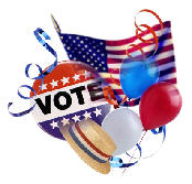 Election Day  (Image licensed from the Microsoft Office Clip Art Gallery.)