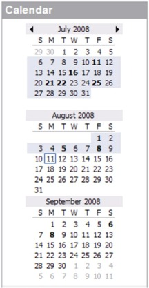 The Microsoft Outlook Date Navigator